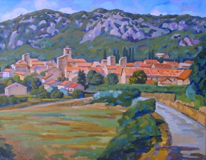 Medieval town in the French Provence